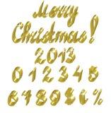 Números del oro Imagen de archivo libre de regalías