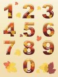 Números del otoño Fotos de archivo