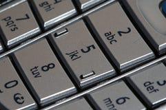 Números del teléfono celular Foto de archivo libre de regalías