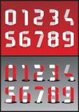Números del vector 3D Imagenes de archivo