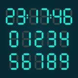 Números digitales de la calculadora ilustración del vector
