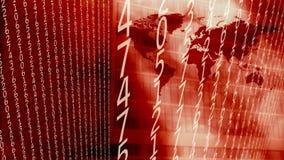 Números digitales de los datos grandes de informática, concepto cibernético de las noticias stock de ilustración