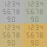 Números digitales tallados piedra Imágenes de archivo libres de regalías