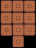 Números do ícone Fotografia de Stock Royalty Free