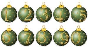 Números do ano novo em esferas Fotografia de Stock Royalty Free