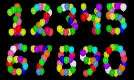 Números do balão ilustração royalty free