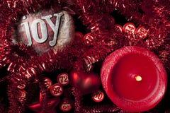 Números do bingo da vela e do Natal Foto de Stock Royalty Free