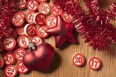 2017 números do bingo do ano novo Imagens de Stock