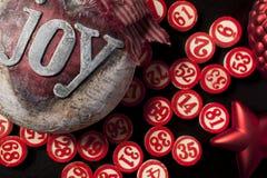 Números do bingo do Natal Fotografia de Stock