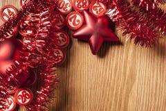 Números do bingo do Natal Imagens de Stock