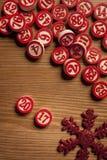Números do bingo do Natal Foto de Stock