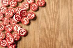 Números do bingo do Natal Imagens de Stock Royalty Free