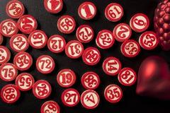Números do bingo do Natal Imagem de Stock Royalty Free