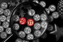 Números do bingo do Natal no estilo liso Fotografia de Stock Royalty Free