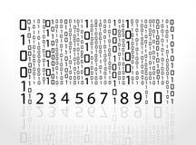 Números do código de barras do vetor fotos de stock