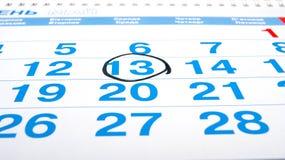 Números do calendário Imagem de Stock Royalty Free