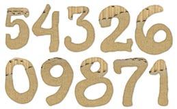 Números do cartão Imagens de Stock
