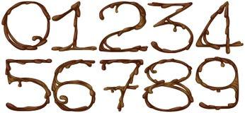 Números do chocolate Imagens de Stock