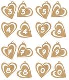 Números do coração Foto de Stock