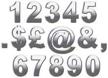 Números do cromo Imagem de Stock