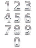 Números do cromo em 3D Foto de Stock Royalty Free