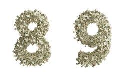 Números do dólar Imagens de Stock Royalty Free