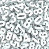 Números do fundo 3D do número na desordem Imagens de Stock