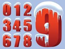 Números do inverno Imagens de Stock