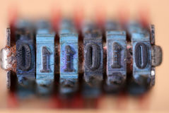 Números do macro dos carimbos de borracha Imagens de Stock
