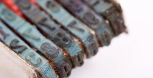 Números do macro dos carimbos de borracha Imagem de Stock Royalty Free