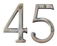 Números do metal Fotos de Stock Royalty Free