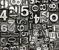 Números do metal Foto de Stock