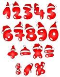 Números do Natal Fotografia de Stock Royalty Free