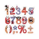 Números do partido ajustados ilustração stock