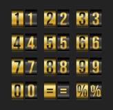 Números do placar ilustração stock