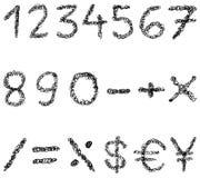 Números do Scribble Imagens de Stock Royalty Free