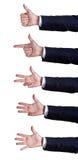 Números do sinal da mão Fotos de Stock Royalty Free