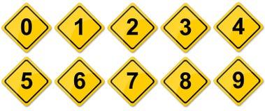Números do sinal de tráfego Imagens de Stock