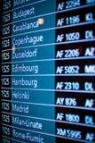 Números do voo Foto de Stock