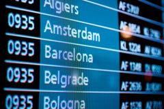 Números do voo Imagens de Stock