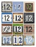 Números doce fotografía de archivo libre de regalías