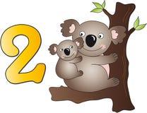 Números: dois ilustração royalty free