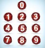 Números Doodled Imagen de archivo