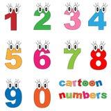 Números dos desenhos animados Fotografia de Stock