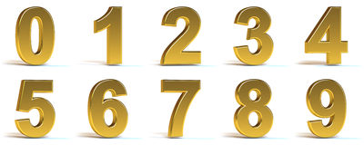 Números dourados Imagem de Stock Royalty Free