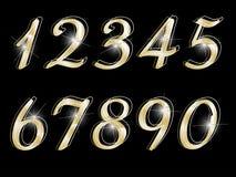 Números dourados Fotos de Stock Royalty Free