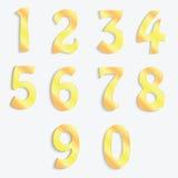 Números dourados Fotografia de Stock Royalty Free