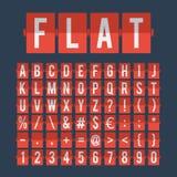 Números e alfabeto de pulso de disparo do calendário da aleta ilustração stock