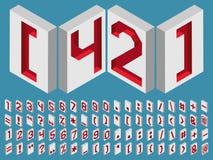 números e marcas de pontuação isométricas Foto de Stock Royalty Free