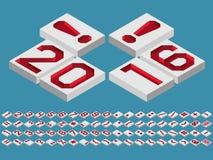 números e marcas de pontuação uma perspectiva Imagens de Stock Royalty Free